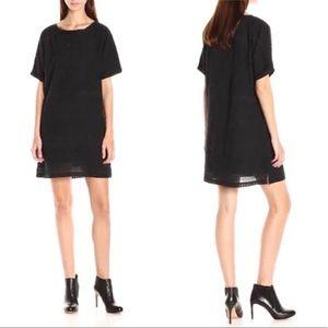Scotch & Soda embroidered black shirt dress sz 4